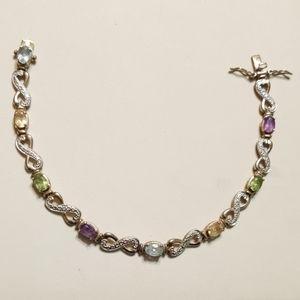Jewelry - Multicolored Gemstones Sterling Silver Braclet